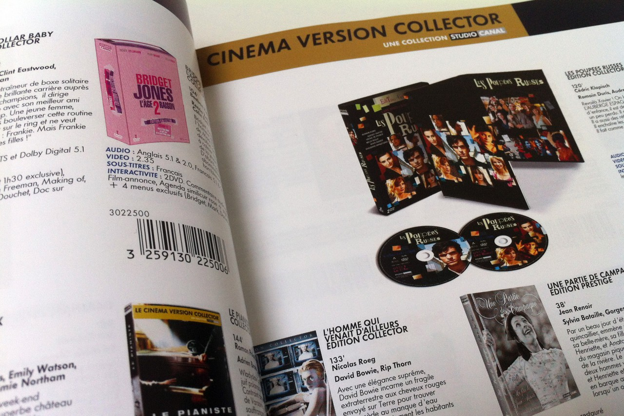 catalogue DVD studiocanal