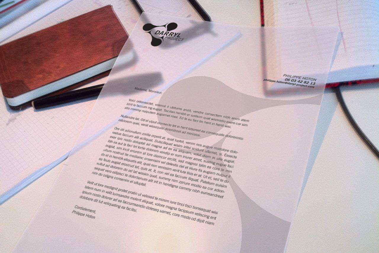 papier à lettre darryl