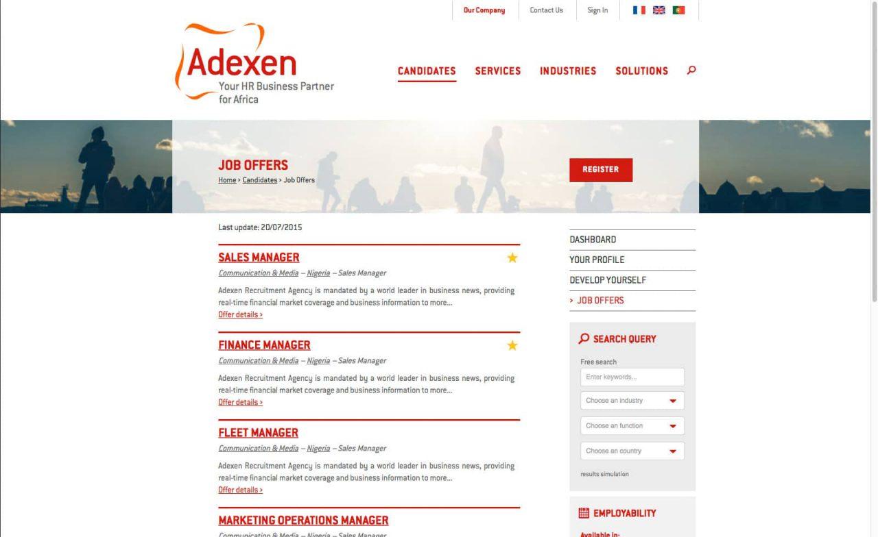 site responsive adexen