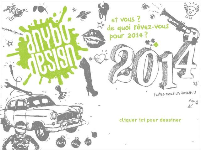 carte de vœux anybodesign 2014