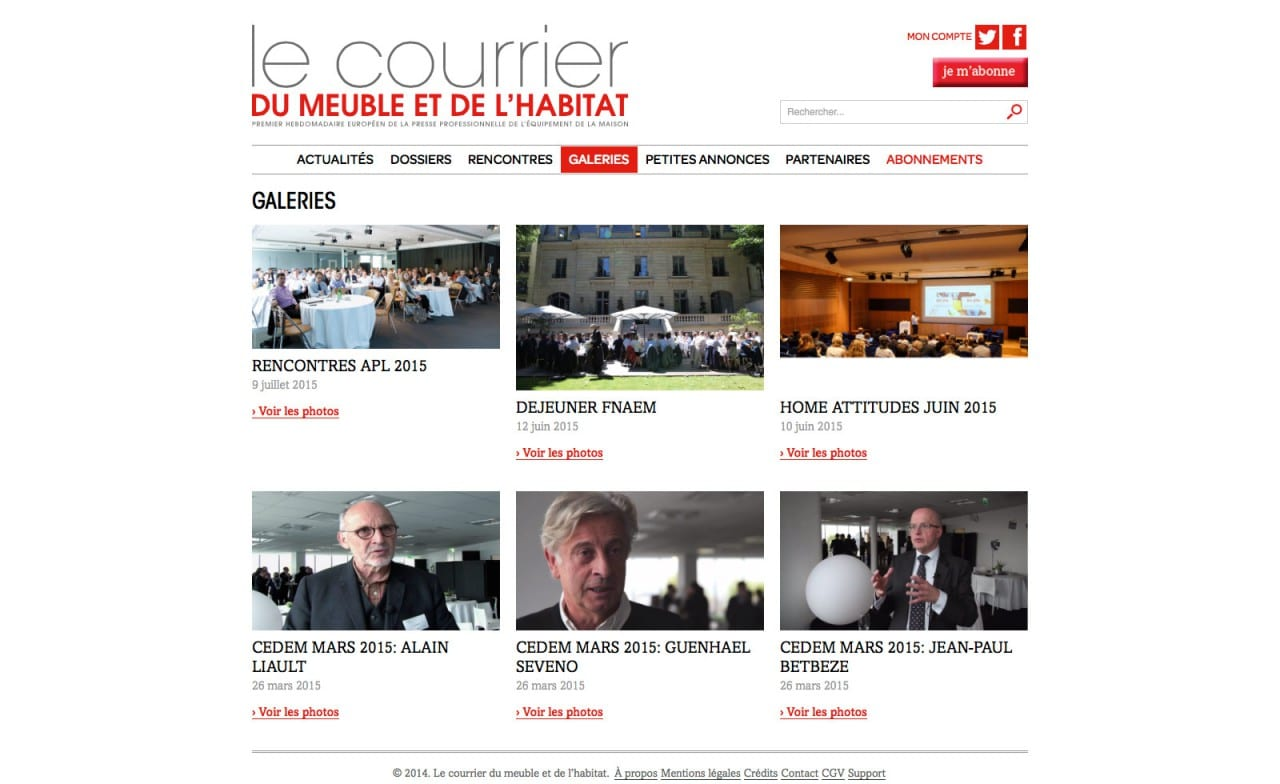 Le courrier du meuble site web anybodesign - Le courrier du meuble ...