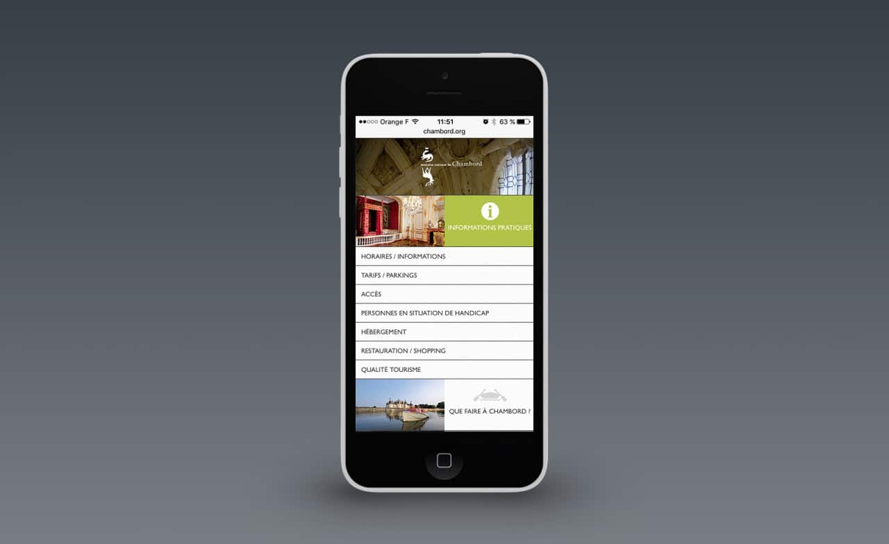 site mobile chambord
