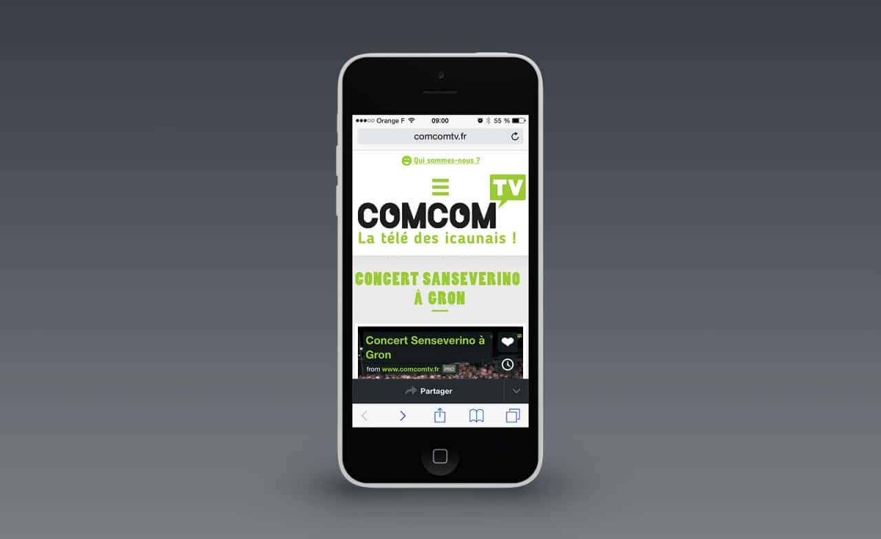 site web responsive comcom tv