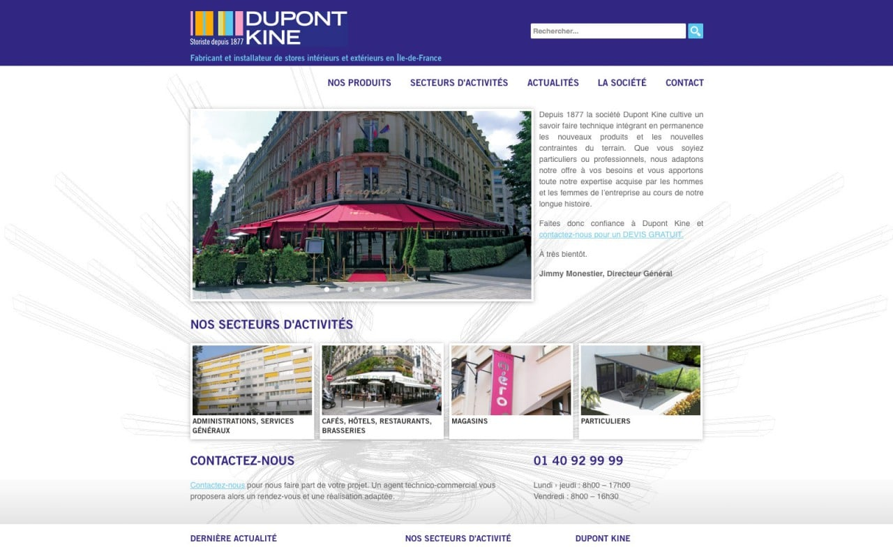 site web stores dupont kine