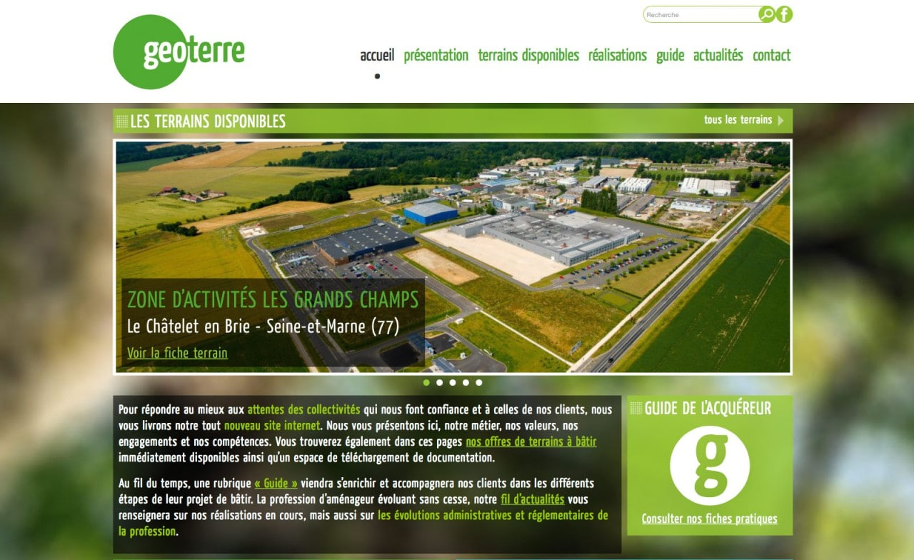 site web responsive geoterre