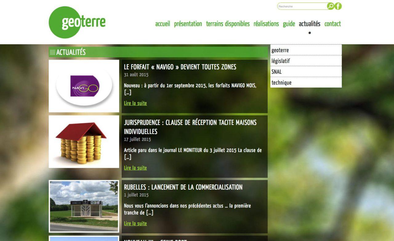site web responsive geoterre