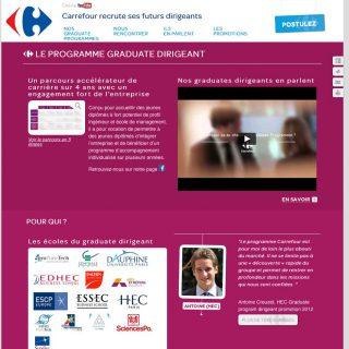 site web carrefour graduates