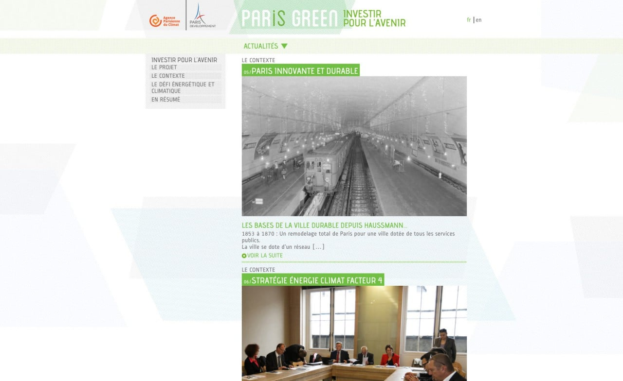 site web responsive paris green