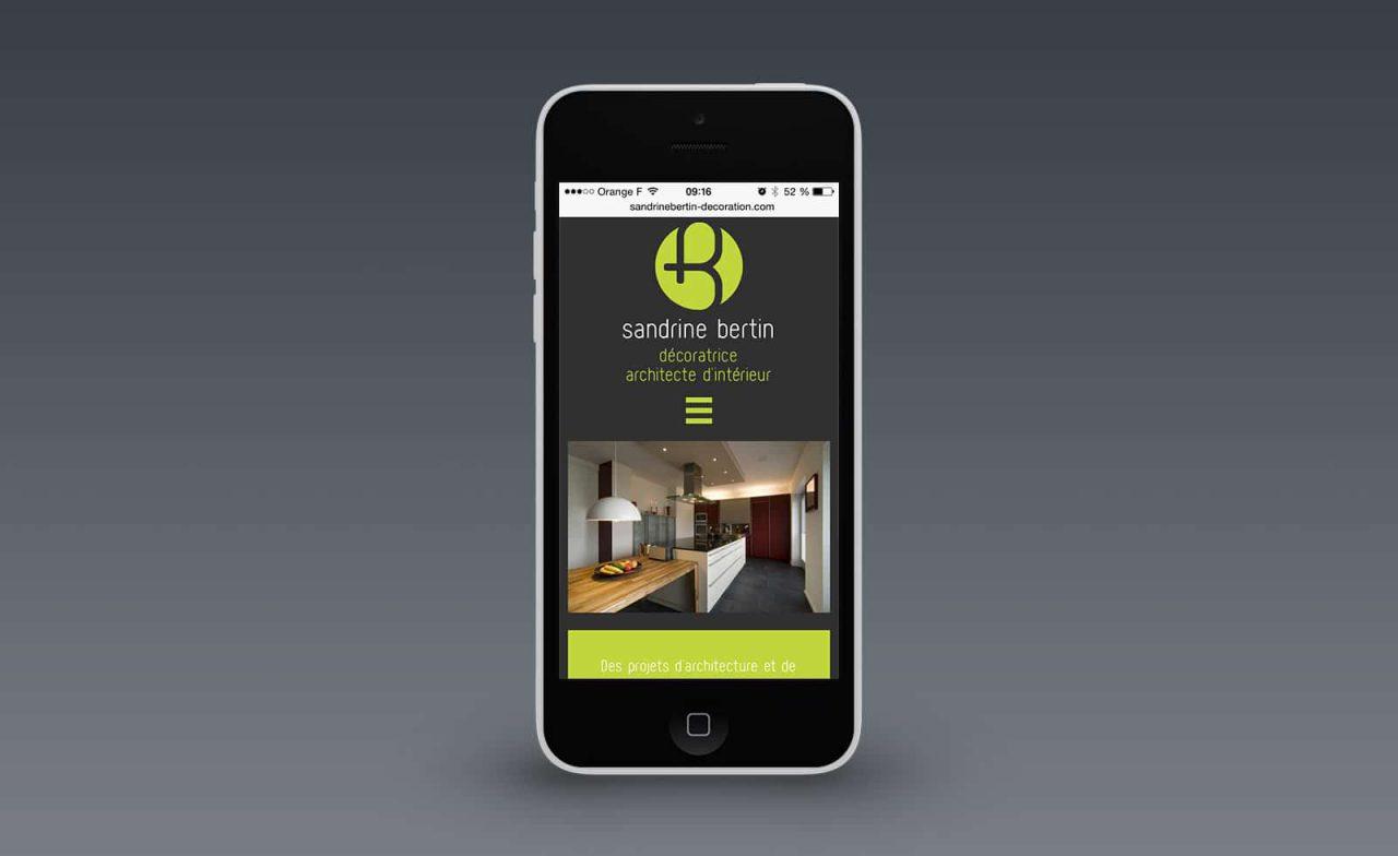 site web responsive sandrine bertin