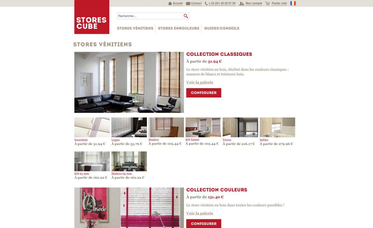 site web stores cube