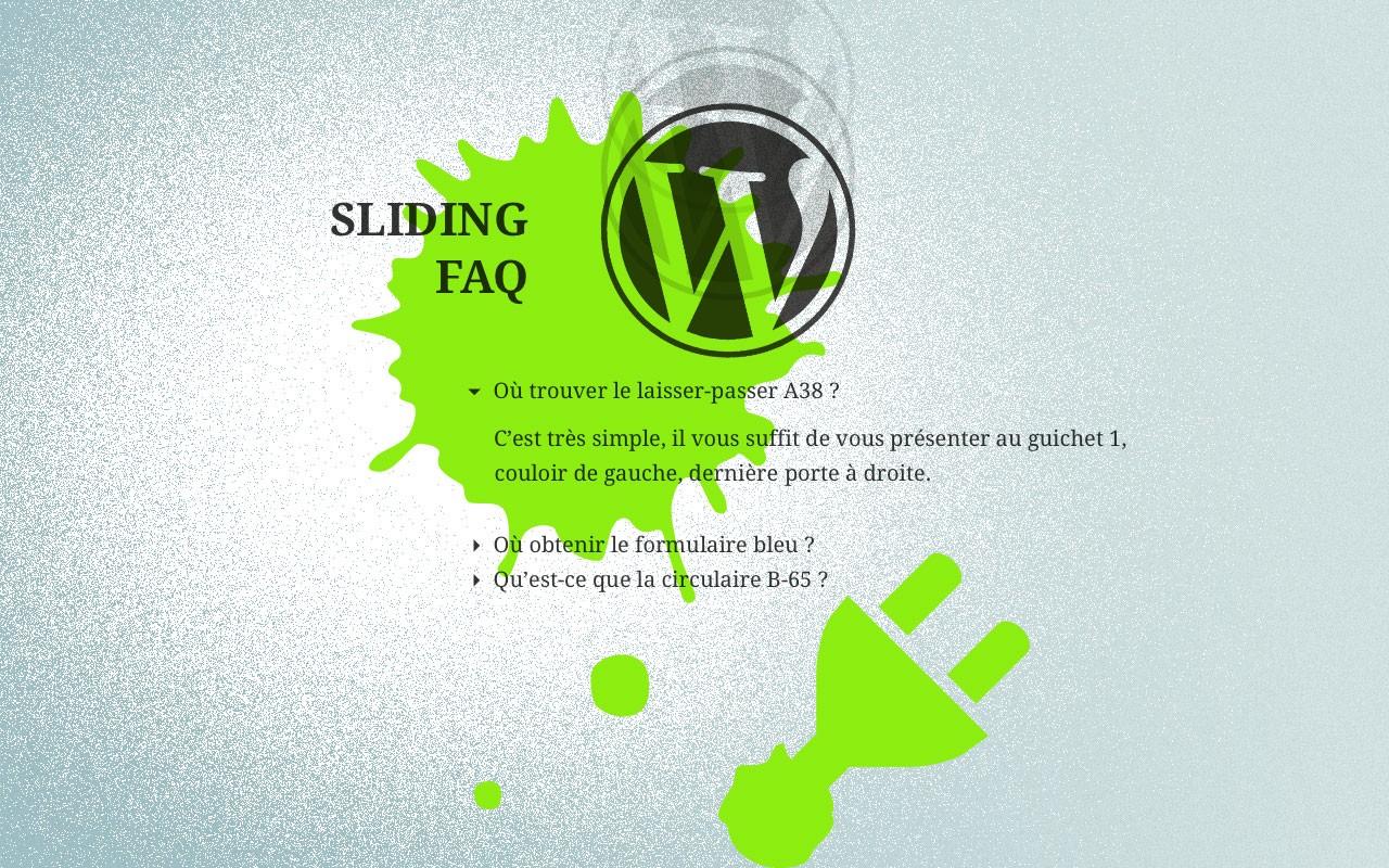 sliding FAQ wordpress plugin
