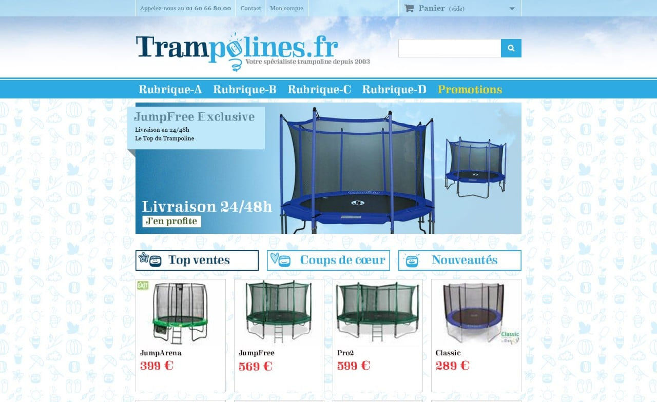 site trampolines