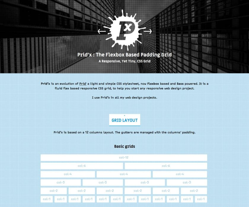 pridx demo site screenshot