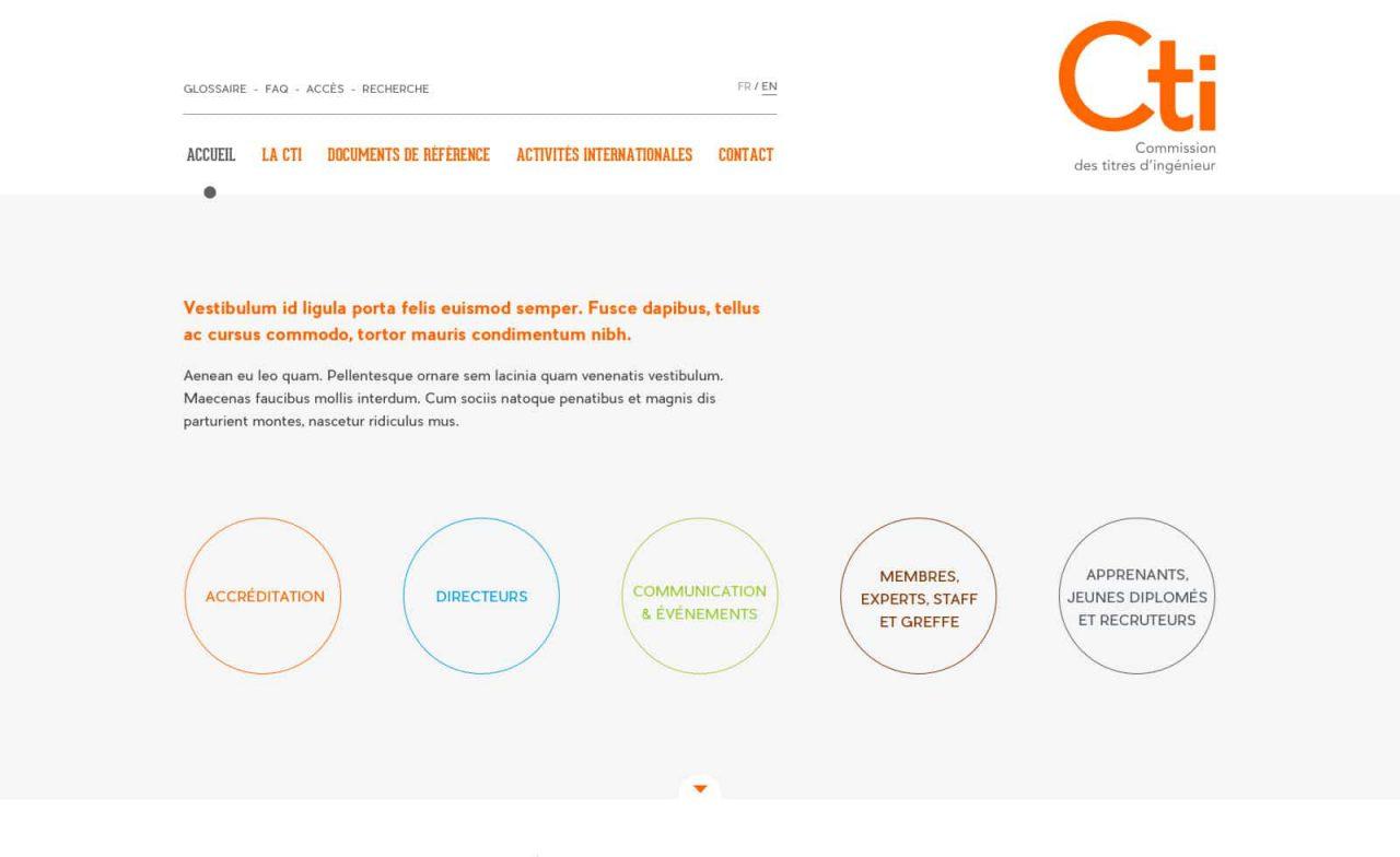 site web CTI home