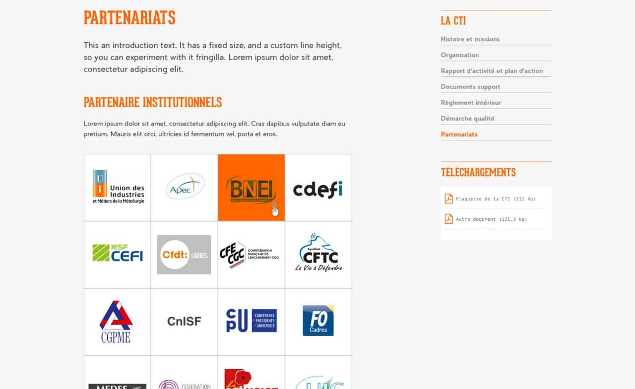 site web CTI partners