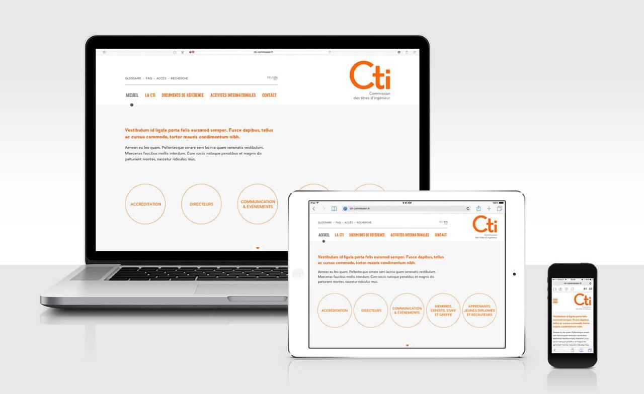 site web CTI responsive