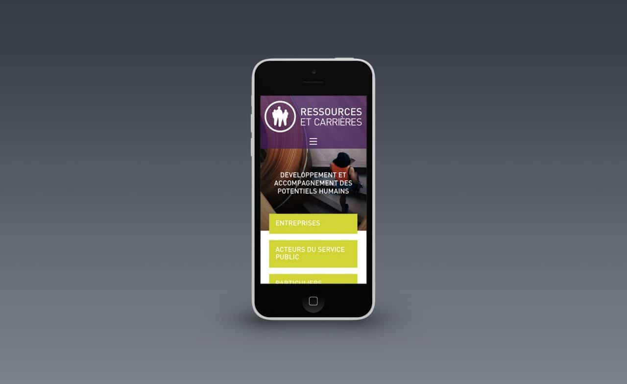 ressources et carrieres site mobile