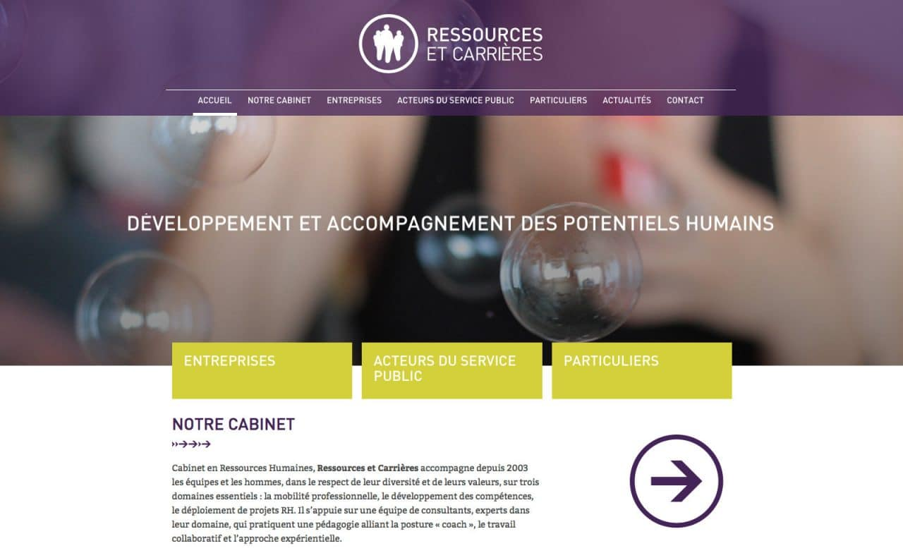 ressources et carrieres site web