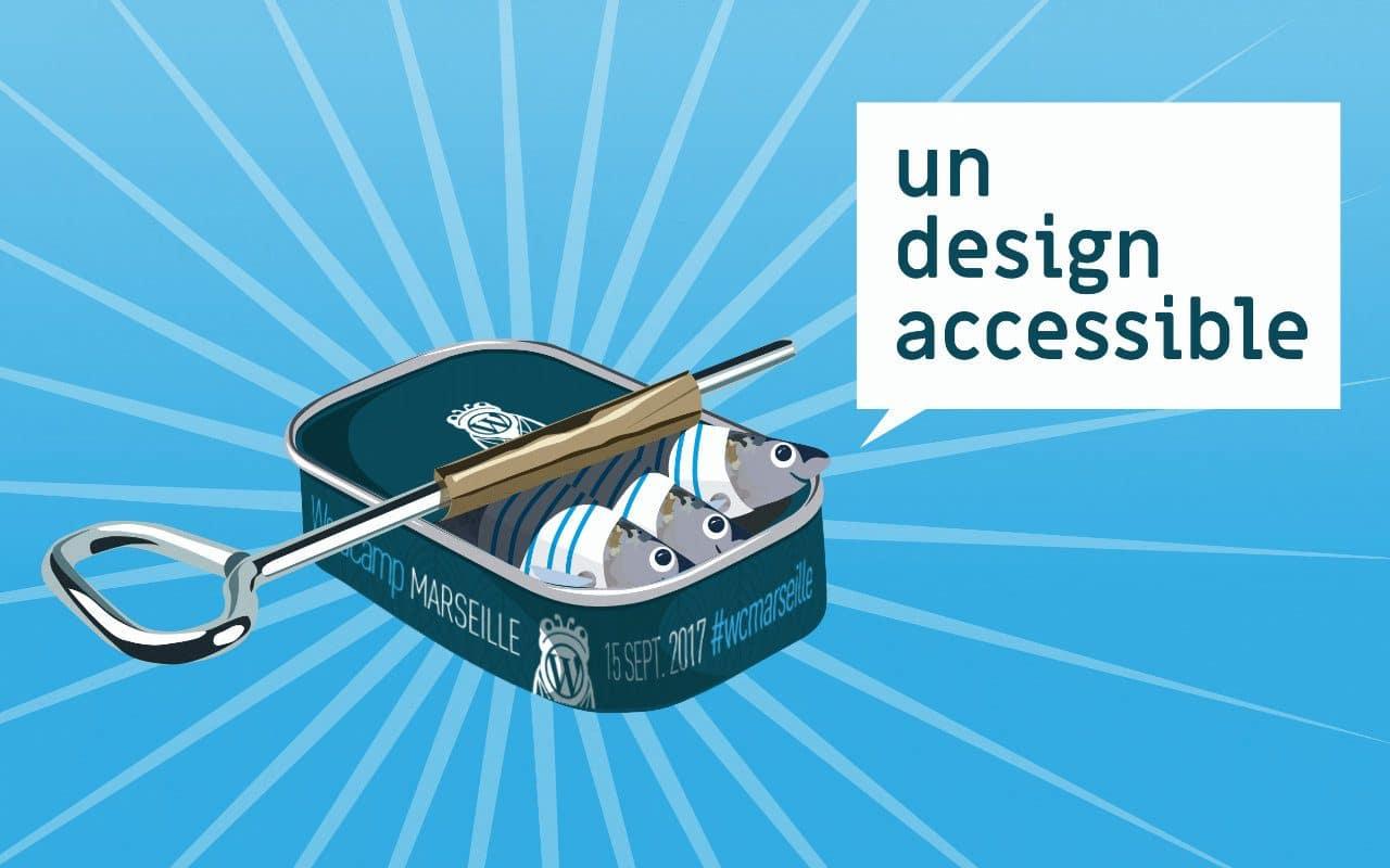 un design accessible visuel conférence