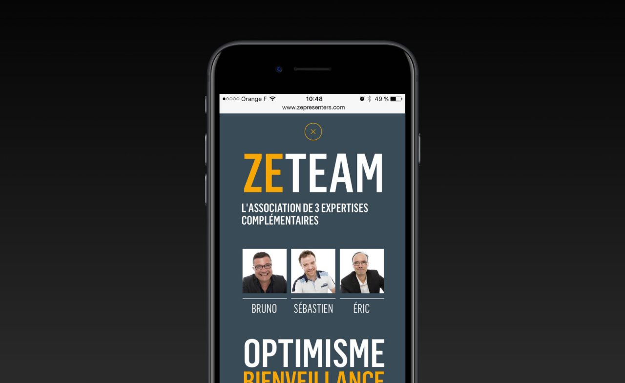 ze presenters site mobile