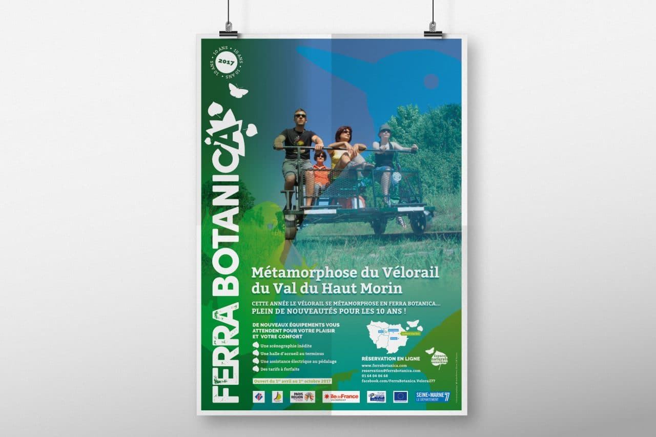 ferrabotanica, vélorail affiche