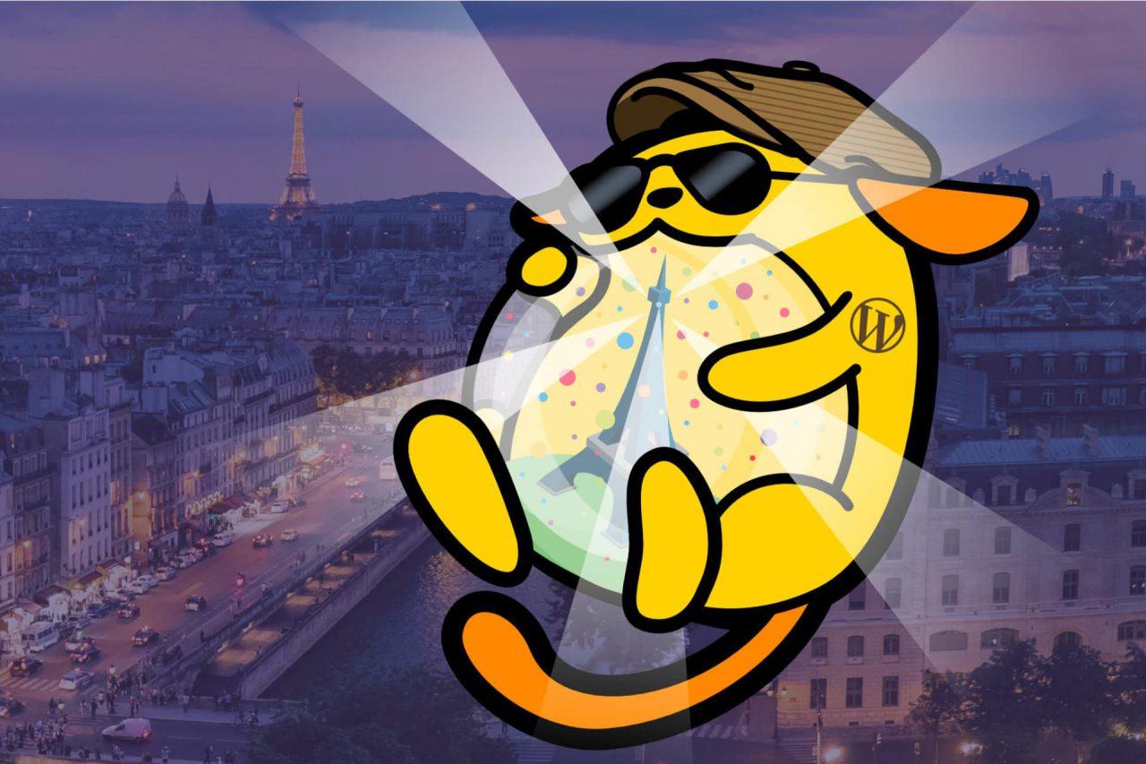 wapuu de l'after wordcamp paris 2018