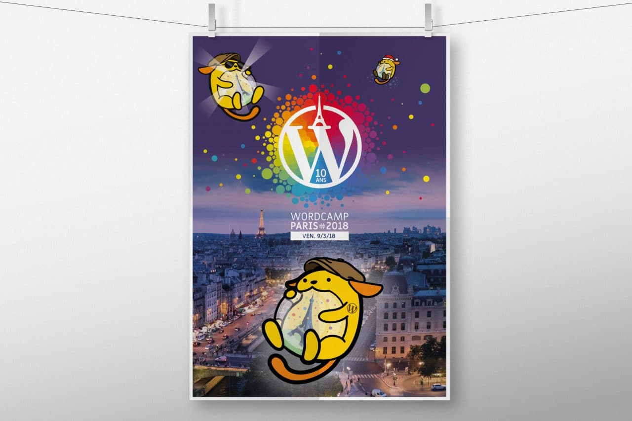 affiche wordcamp paris 2018