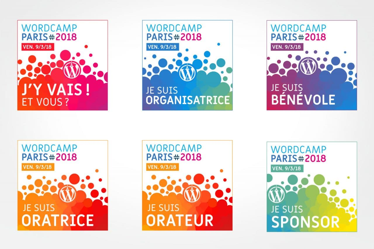 badges web wordcamp paris 2018
