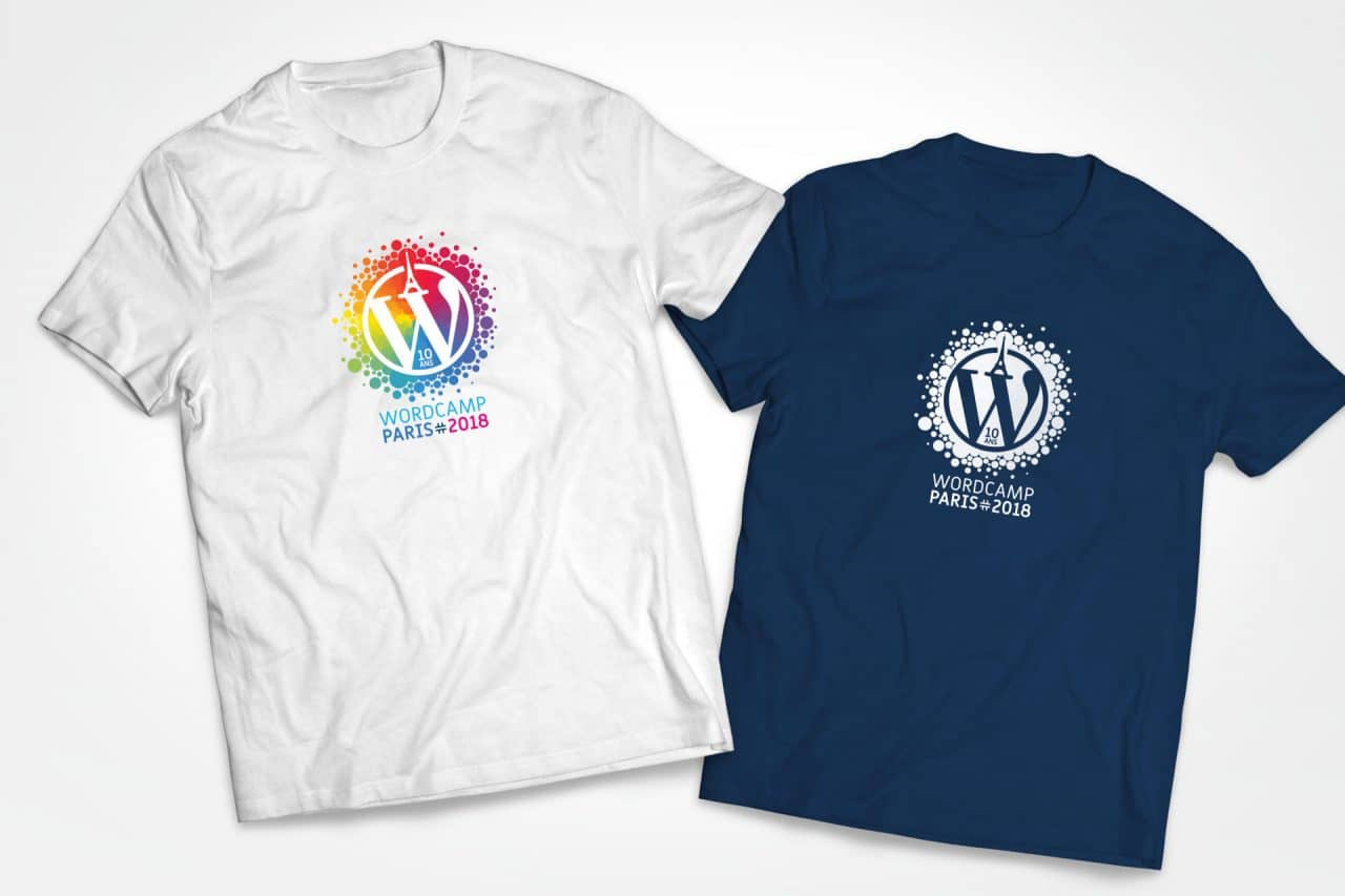 tshirts wordcamp paris 2018