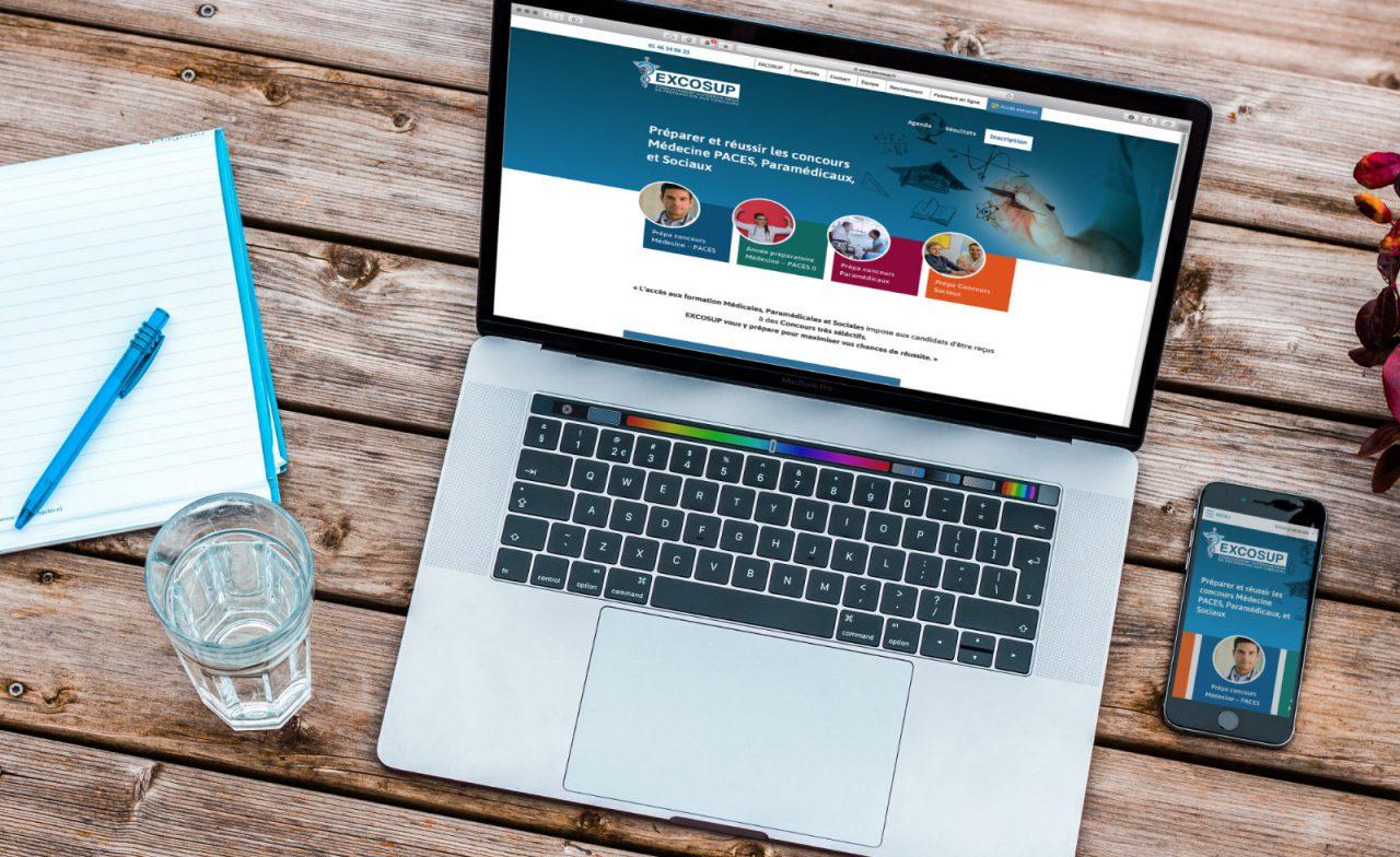 excosup site desktop