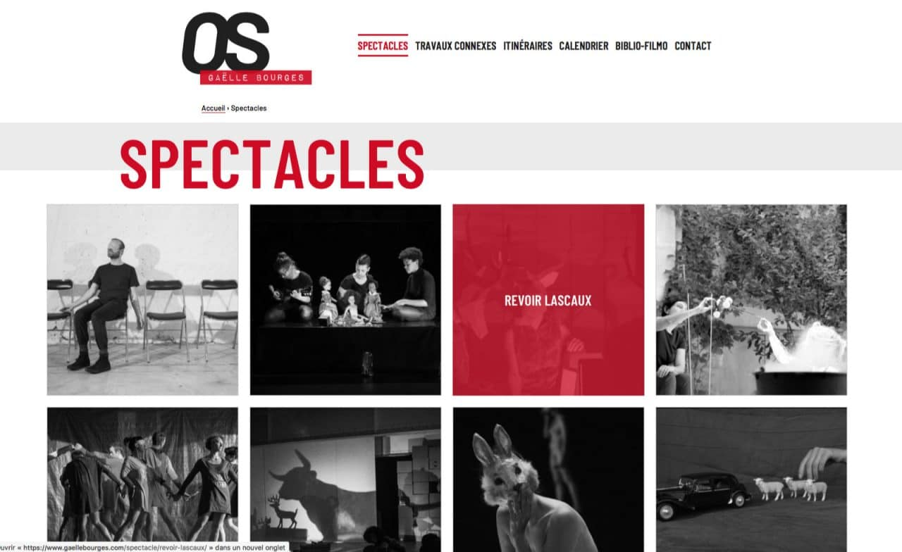 os gaelle bourges site page spectacles