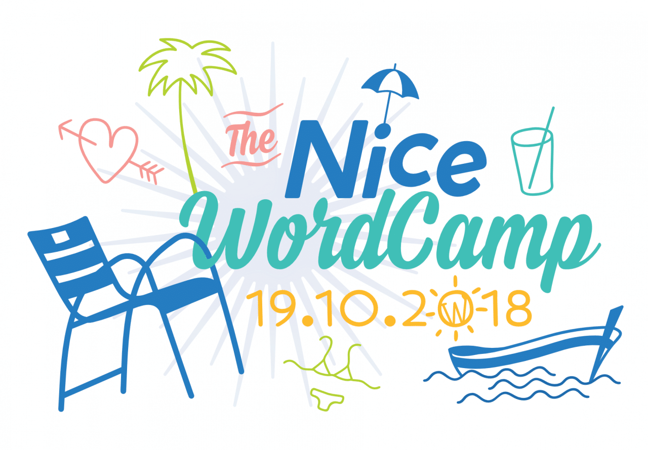 logo illustré du wordcamp nice