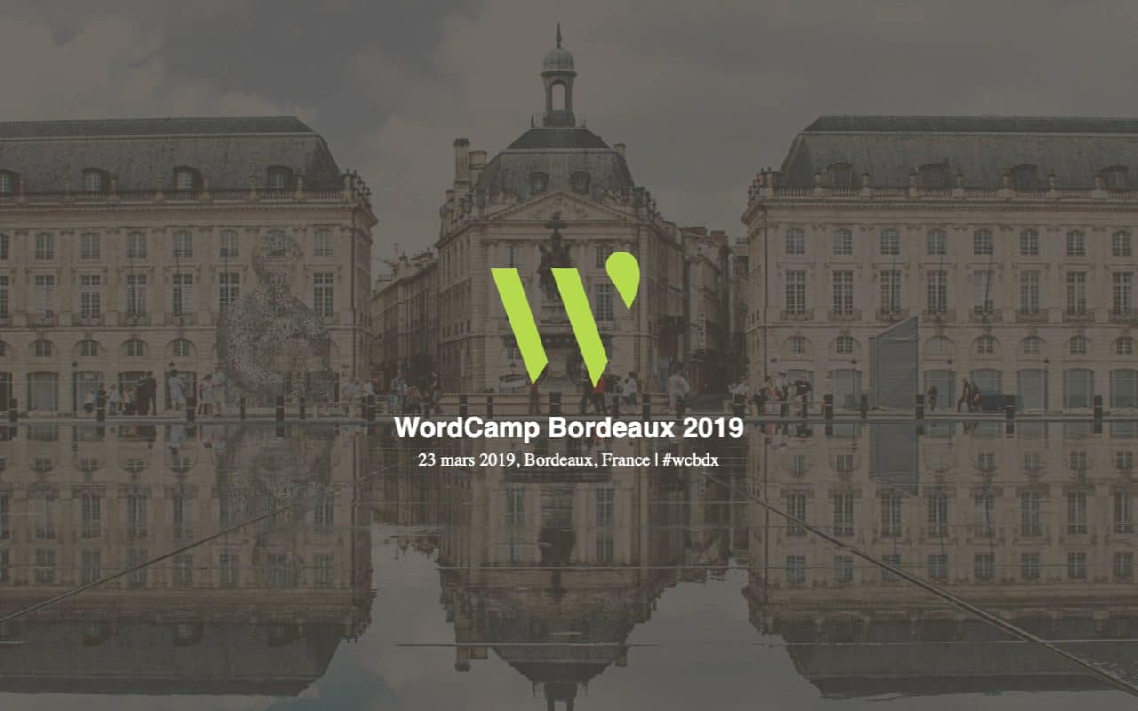 wordcamp bordeaux 2019 - home page