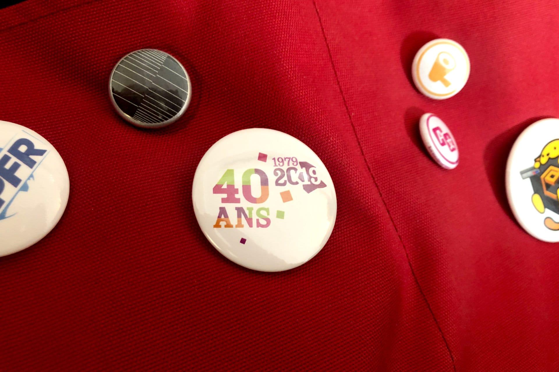 badge espace 19 40 ans