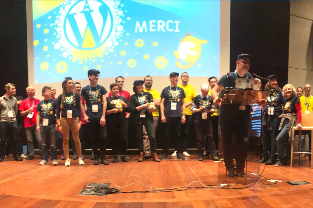 Les volontaires du wordcamp Paris