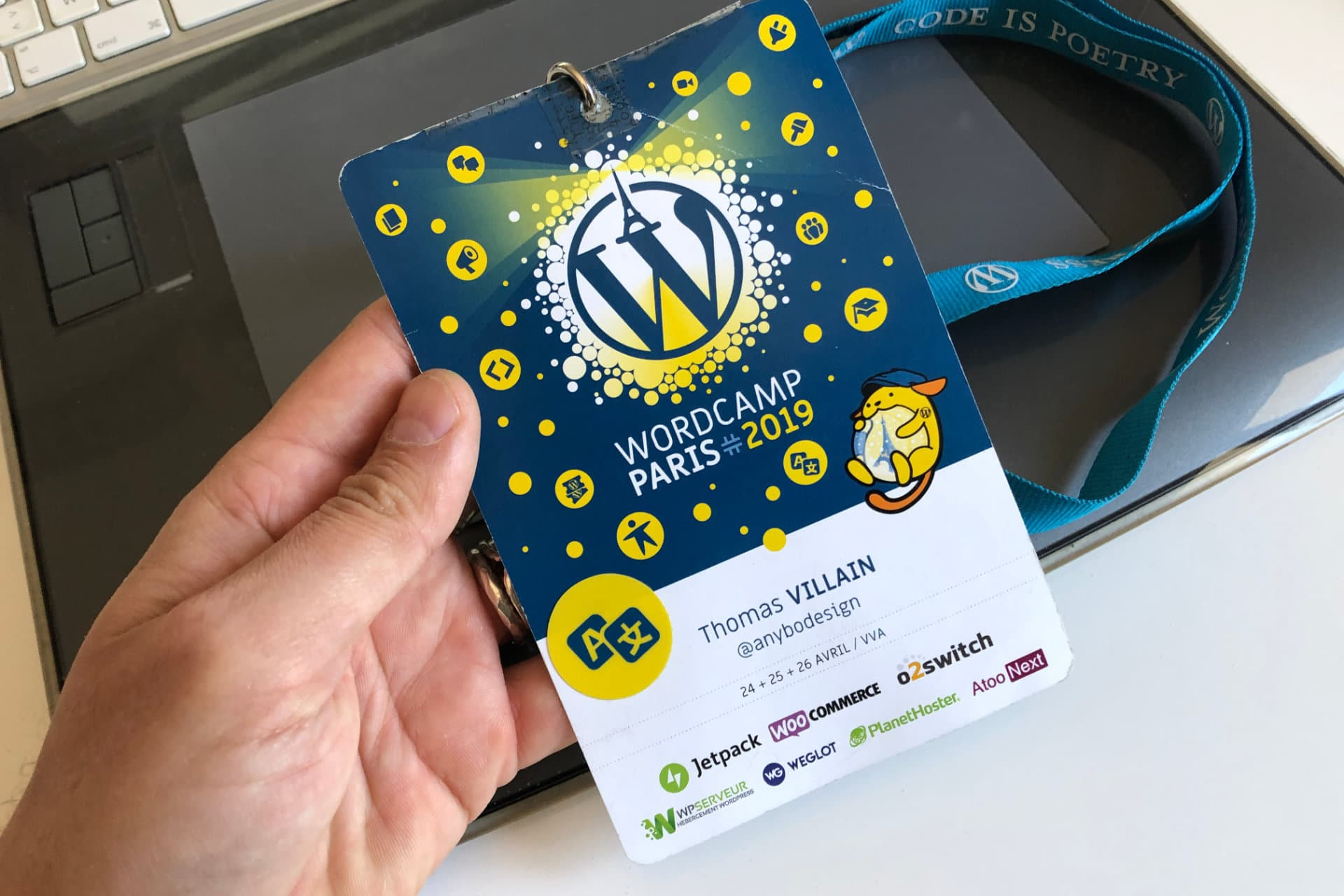 badge wordcamp paris 2019