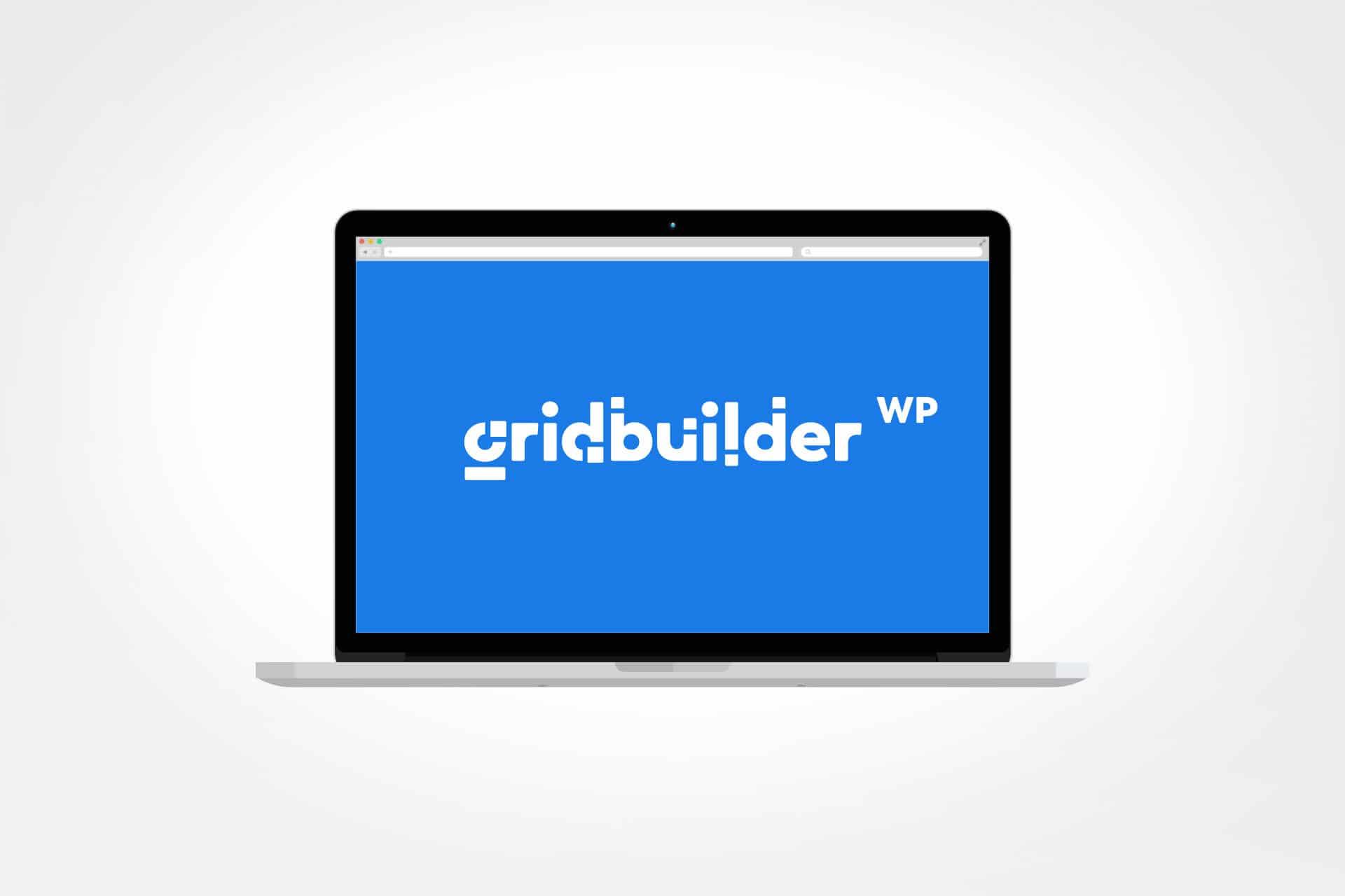 écran avec logo wpgridbuilder