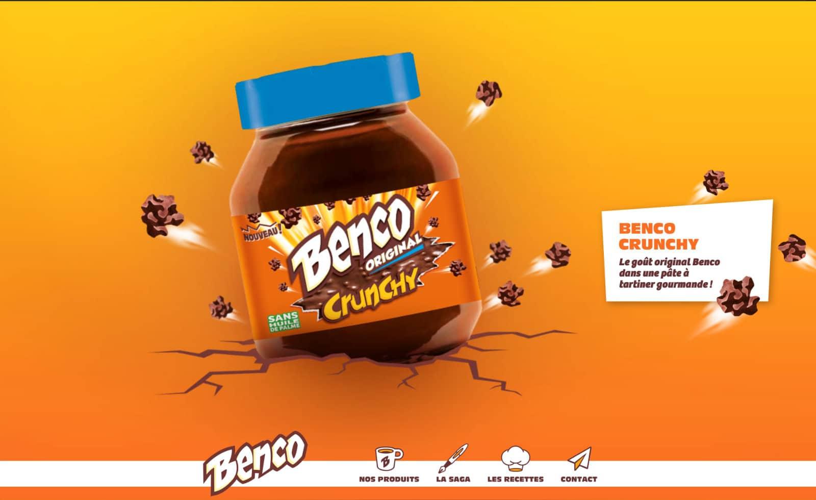 page d'accueil benco