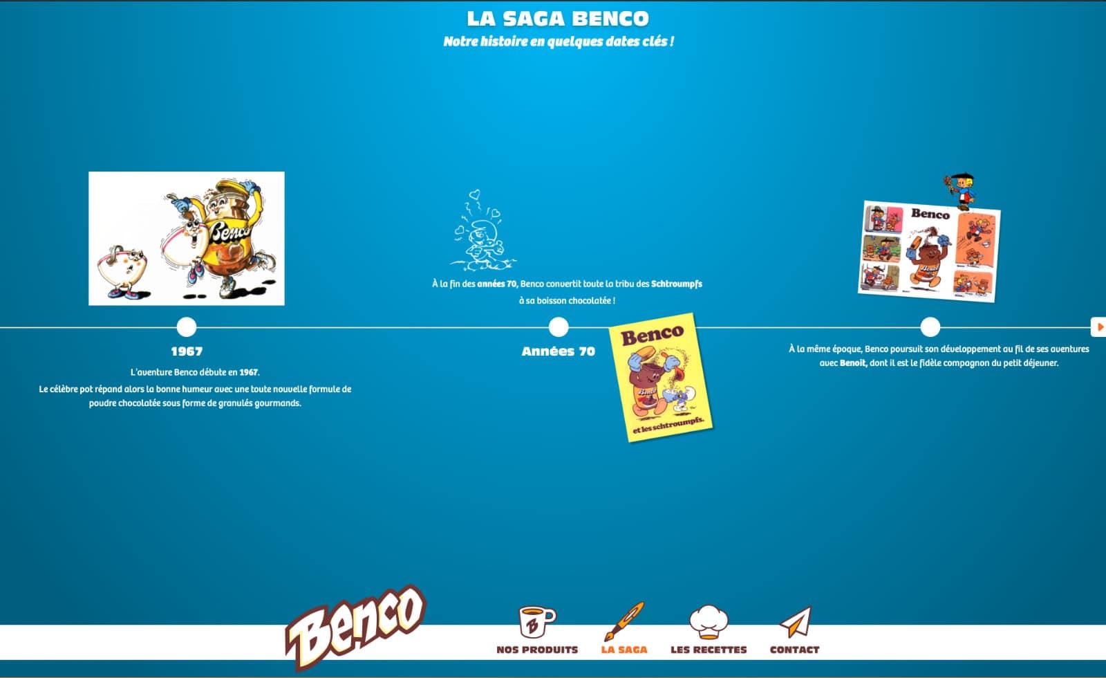 page histoire benco