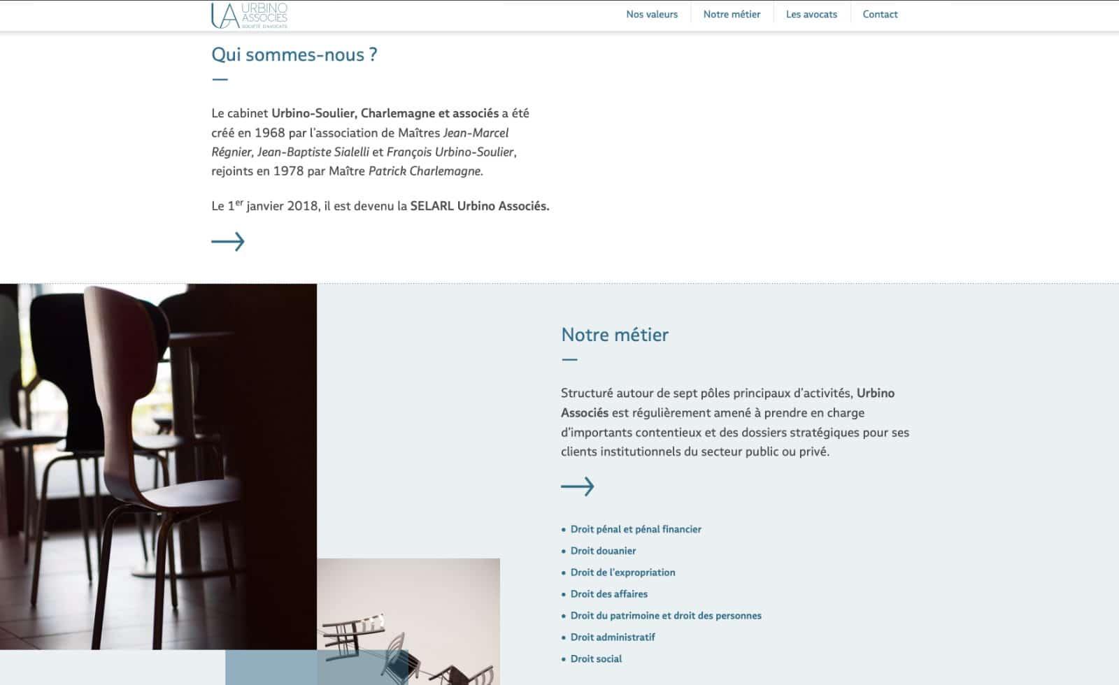 suite home page urbino et associés