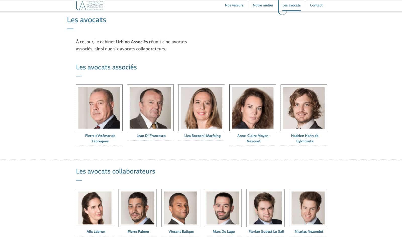 les avocats urbino et associés