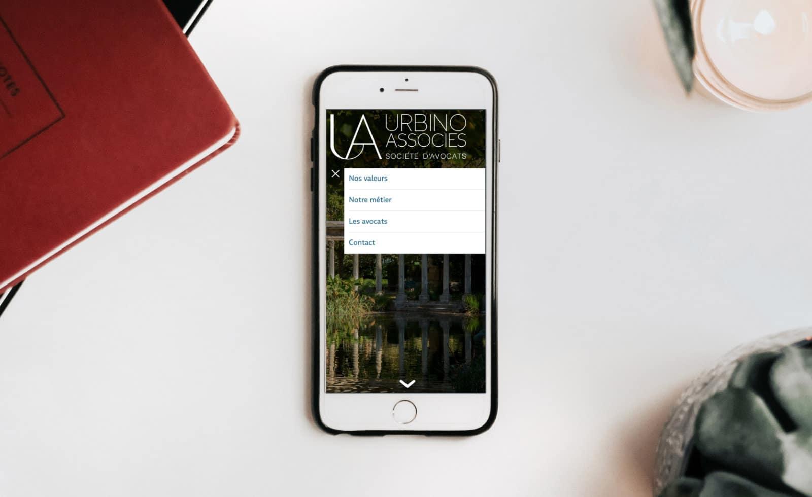 menu mobile urbino et associés